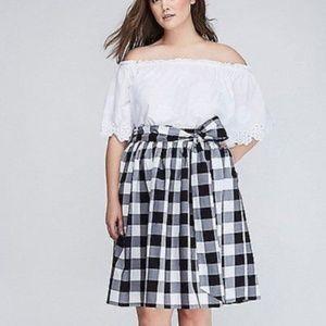 Gingham circle skirt